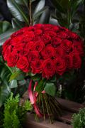 Букет из 51 Красной Розы ПЛАНЕТА ЦВЕТОВ