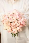 Букет Невесты из Пионовидной Розовой Розы Саратов