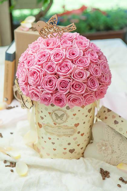Розовая Роза в Шляпной Коробке купить с доставкой по Саратову