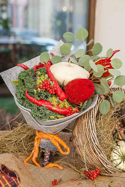 Букет из Овощей, Брассики и Эвкалипта - planeta.florist