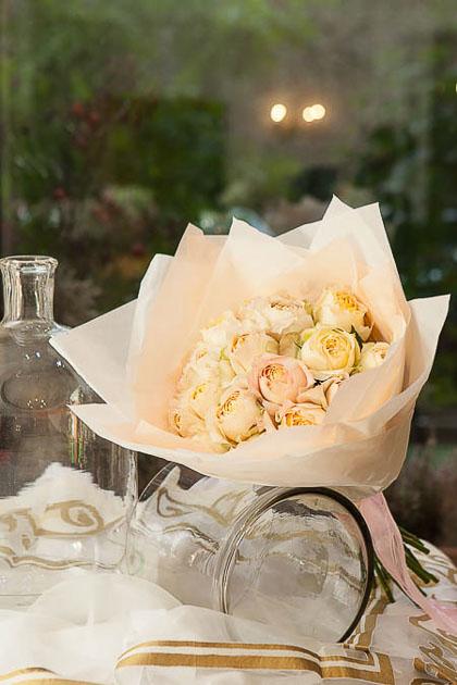 Букет из Персиковой Пионовидной Розы - planeta.florist