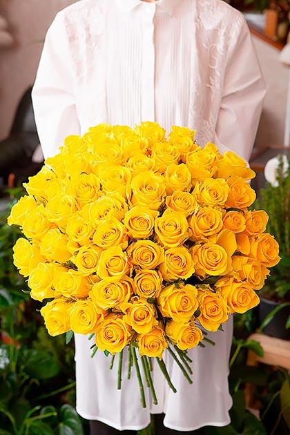 101 Желтая Роза — planeta.florist