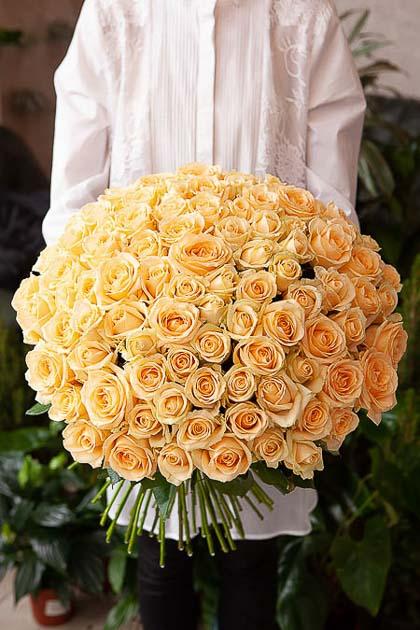 101 Кремовая Роза — planeta.florist