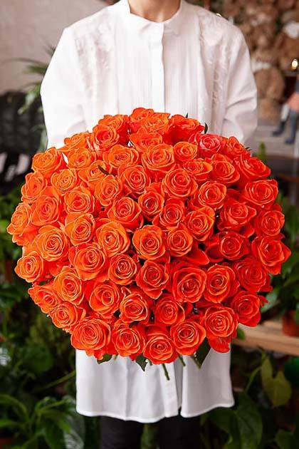 101 Алая Роза — planeta.florist