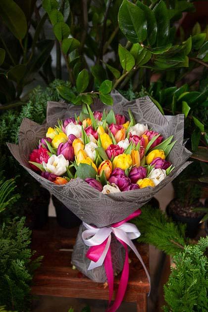 Букет из 51 Тюльпана Премиум микс Саратов