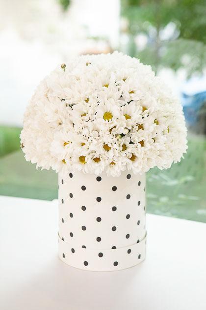 Белая Хризантема в шляпной Коробке Саратов