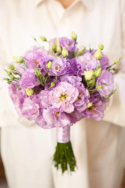 Букет Невесты из Лавандового Лизиантуса Саратов