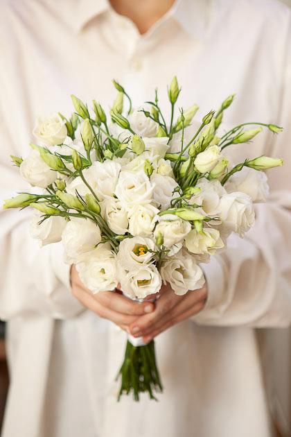 Букет Невесты из Белого Лизиантуса Саратов