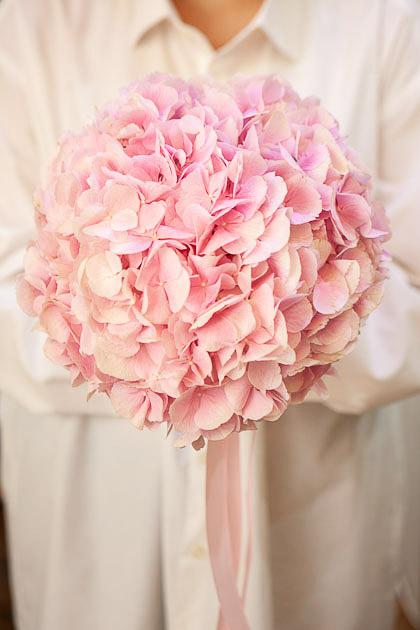 Букет Невесты из Розовой Гортензии Саратов