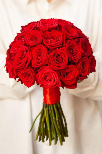 Букет Невесты из Красной Розы Саратов