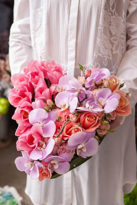 Цветы в форме сердца: Роза Розовая, Лососевая, Орхидея, Тюльпаны купить с доставкой - 3
