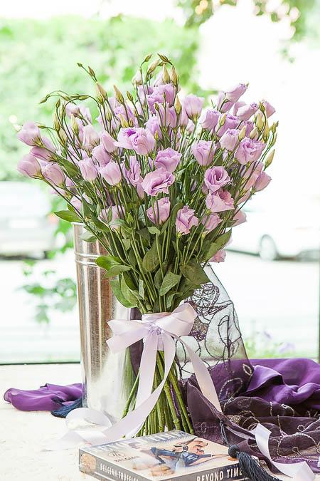 Букет из Сиреневого Лизиантуса - planeta.florist