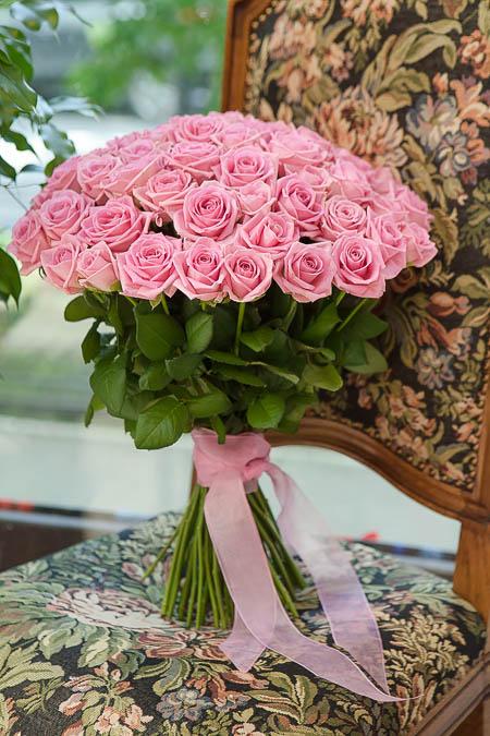 Букет из 51 Розовой Розы - planeta.florist