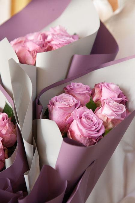 Букет из 15 Сиреневых Роз в Ярусном стиле Саратов - фото 2